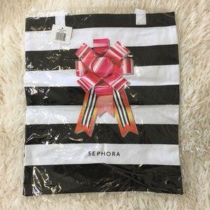 Sephora VIB ROUGE Striped Holiday Tote Shopper Bag